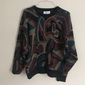 Vintage Patterned Crewneck Sweater